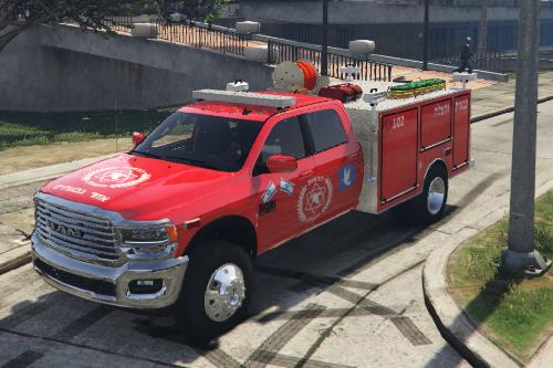 2020 Dodge | רכב כיבוי אש- fire Truck department israel