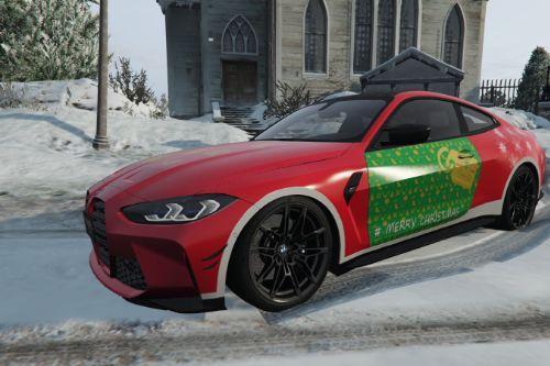 2021 BMW M4 Competition by EX_AID - Merry Christmas Design [Paintjob]