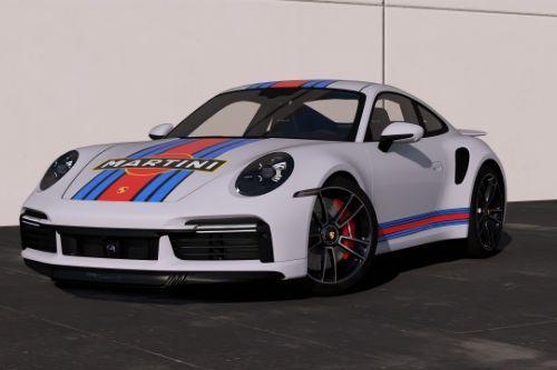 [2021 Porsche 911 Turbo S]Martini livery