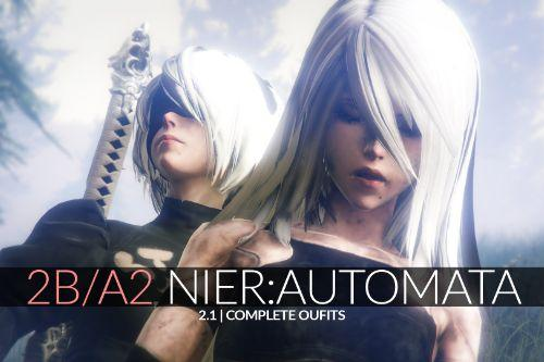 2B & A2 Nier Automata [Add-On Ped | Replace]
