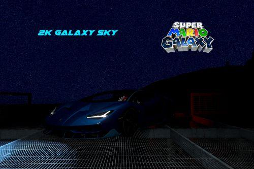 2K Galaxy Sky (SMG2-style night sky) Enhanced Starfield