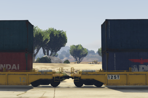 3 Container Double Stacks with liveries