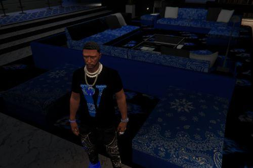 3 Crip gang designer shirts