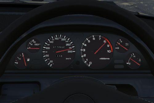 300 km/h dial for y97y's Nissan Skyline GT-R(BNR32)