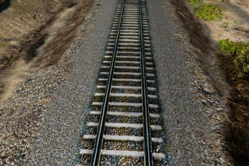 Retextured pebble Railway Tracks