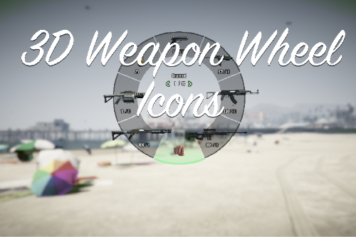 3D Weapon Wheel Icons