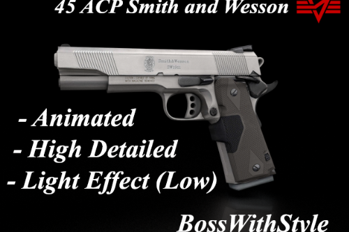 45 ACP Smith and Wesson [Animated]