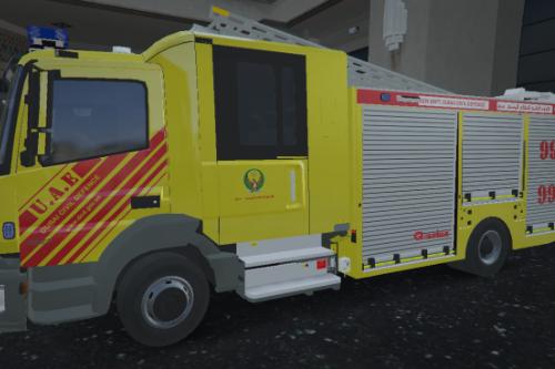 [4K] Dubai Civil Defence Mercedes-Benz Atego Firetruck