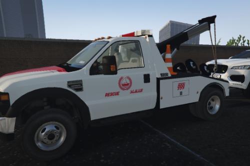 [4k] Dubai Police Tow Truck