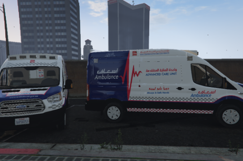 [4k] Ford Transit Dubai Ambulance