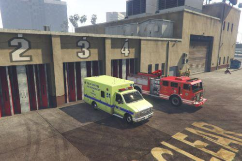 4k Los Santos Intl Airport Ambulance Skin for Ford E450