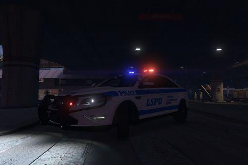 [4K] LSPD Ford Police Interceptor -12 (NYPD Style)