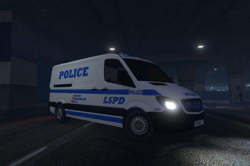 LSPD Mercedes Sprinter (NYPD Style) [4K]