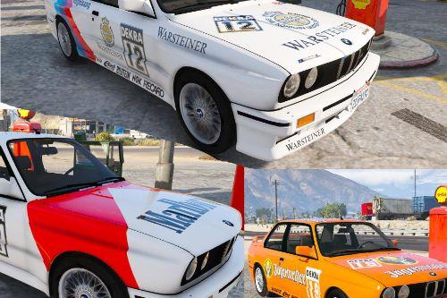 4K & 2K Original DTM Liveries for Mrjappie241's BMW M3 E30
