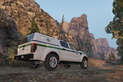 4k Search and Rescue US Park Ranger livery for Ford Ranger police truck