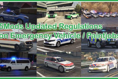5Mods Updated Regulations on Emergency Vehicles / Paintjobs
