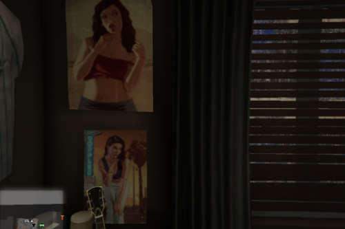 6 Posters of GTA Cover Girls for Franklin's Room at His Aunt's House