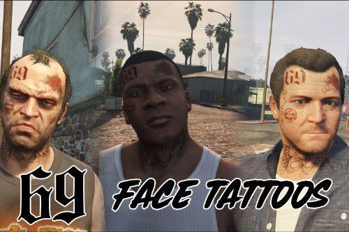 6ix9ine Face Tattoos for Trevor, Franklin & Michael