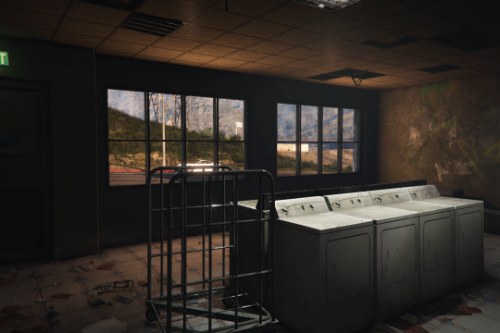 Abandoned Laundromat Interior [Singleplayer/FiveM]