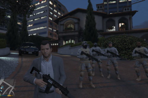 Personal Army ( Active bodyguards squads and teams )