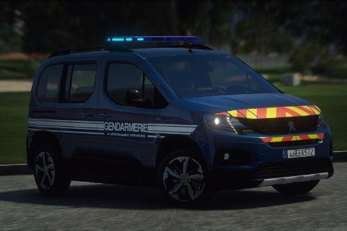 Peugeot Rifter 2019 Gendarmerie [Add-On / Replace]