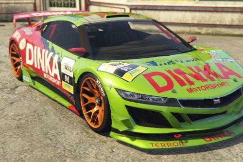 01b945 dinka jester racecar green front