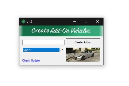 Addon Creator Vehicles