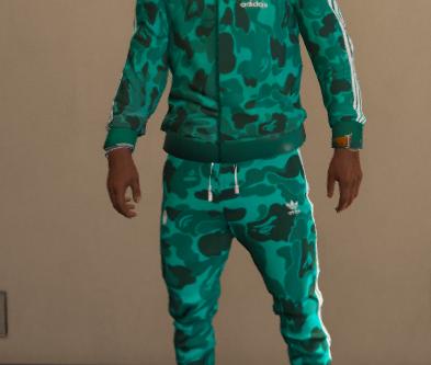 Adidas Camo tracksuit - Retextured