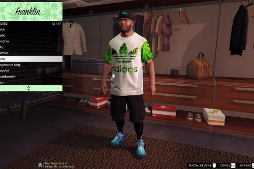 Adidas Marijuana T-Shirt for Franklin