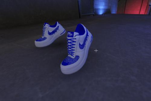 Air Force 1 Blue Bandana Customs for Franklin