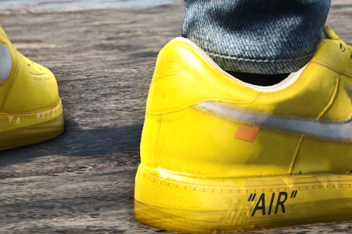 """Air Force 1 off white """"University Gold"""""""