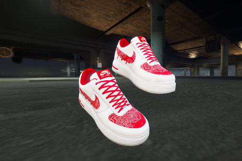 Air Force 1 Red Bandana Customs For Franklin