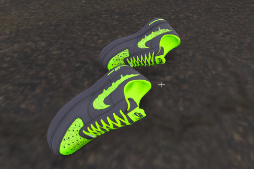 Air Force 1 Slime Green and Black Customs for Franklin
