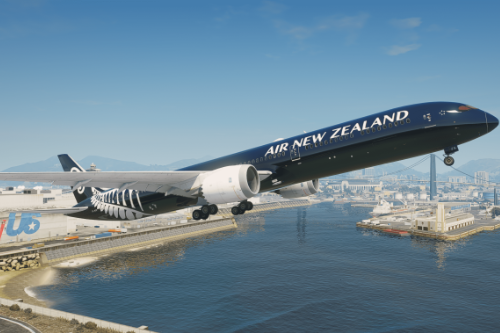 "Air New Zealand ""All Blacks"" Livery for Boeing 787-10 Dreamliner"