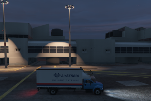 Air Serbia Catering Truck Livery