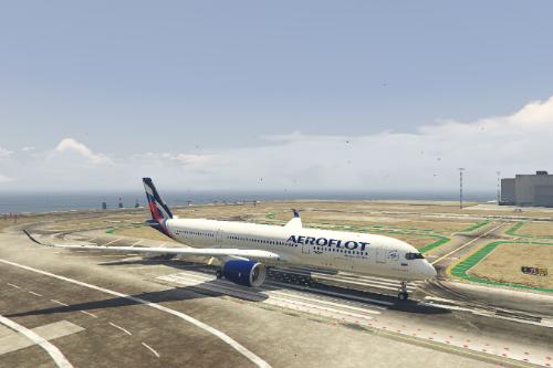 Airbus A350-900XWB Aeroflot Livery