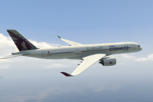 Airbus A350 Qatar Airways 'Oneworld' special livery