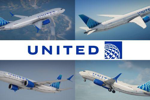 "United ""Evo Blue"" Pack | Airbus / Boeing"