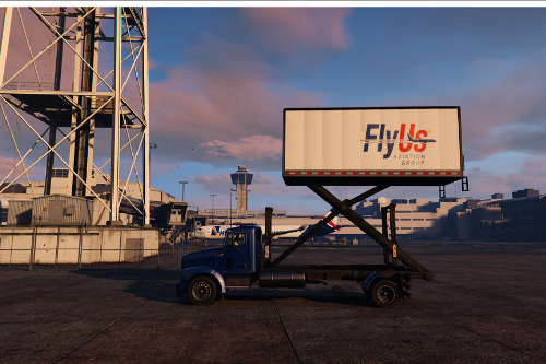 Aircraft Service Truck With Lifting Box [Add-On / OIV | Liveries]