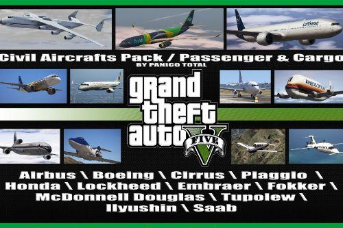 Civil Aircrafts Pack / Passenger & Cargo [Add-On / Dlc Mod]