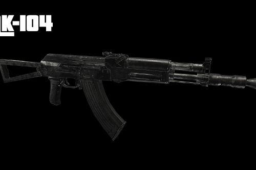AK-104: AK Carbine Assault rifle [Animated]