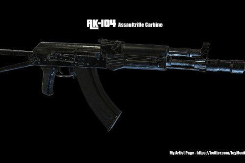 AK-104: AK Carbine Assault rifle [Animated]