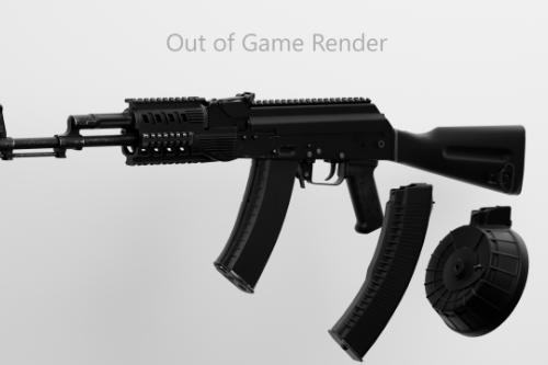 AK74 Animated From EFT [Singleplayer & Fivem]