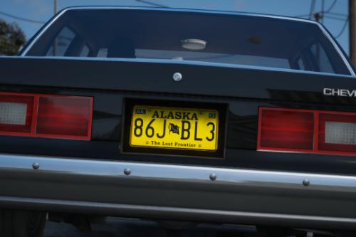 """Alaska License Plate El Camino """"A Breaking Bad Movie"""""""