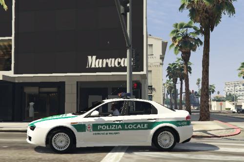Alfa Romeo 159 Polizia Locale Milano Paintjob