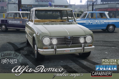 ALFA ROMEO Giulia Super - POLICE  [Add-On | Replace | Livery | Template]