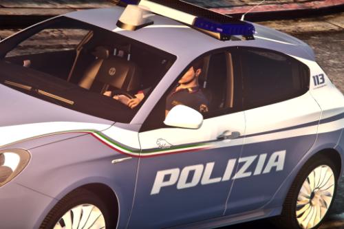 Alfa Romeo Giulietta - Polizia di Stato Squadra Volante | Reskin