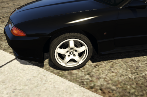 Alloy Rims + Fixed Tire Textures for y97y's Nissan Skyline GT-R (BNR32)