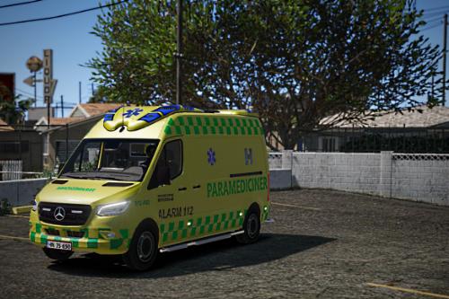 Ambulance pack - Hovedstadens Beredskab   Danish