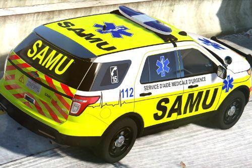 Ambulance SAMU (French paramedic)